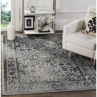 Safavieh Adirondack Vintage Distressed Grey / Black Rug (10u0027 Square) By  Safavieh