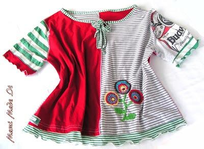 Antonella-Shirt aus alten Jersey-Oberteilen