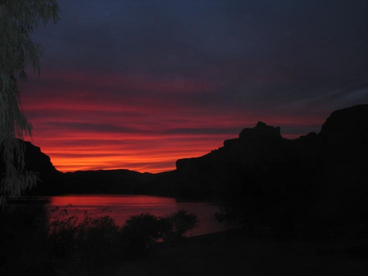 Sunset at Apache Lake, Arizona