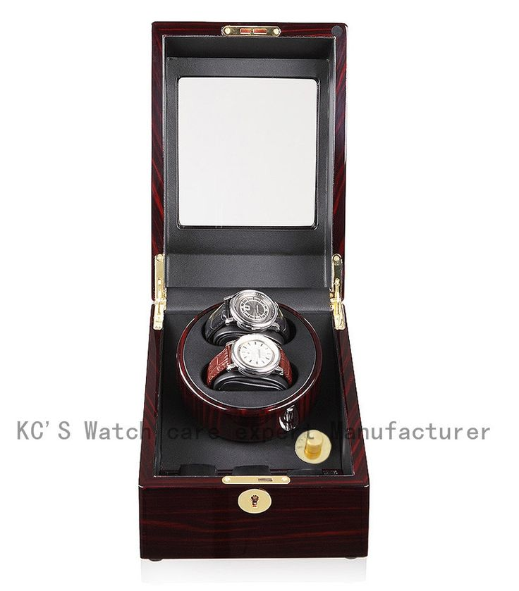 175.00$  Buy now - http://ali6yf.worldwells.pw/go.php?t=1382902785 - Quality 2+3 Double Wooden Watch Winder with High Gloss Piano Paint Japan Motor Birthday Gift to Husband GC03-S24EB