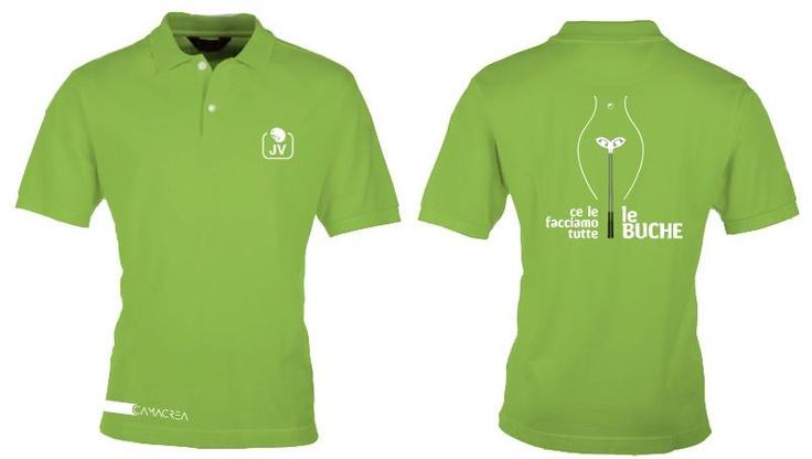 Funny golf polo made in CAMACREA®