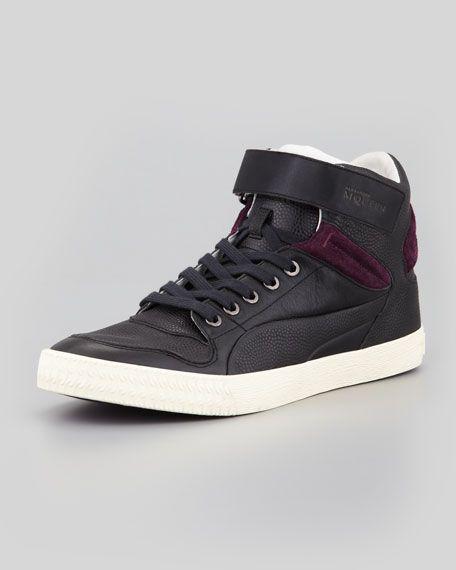Alexander McQueen PUMA - Street Climber III Mid Leather Sneaker, Black