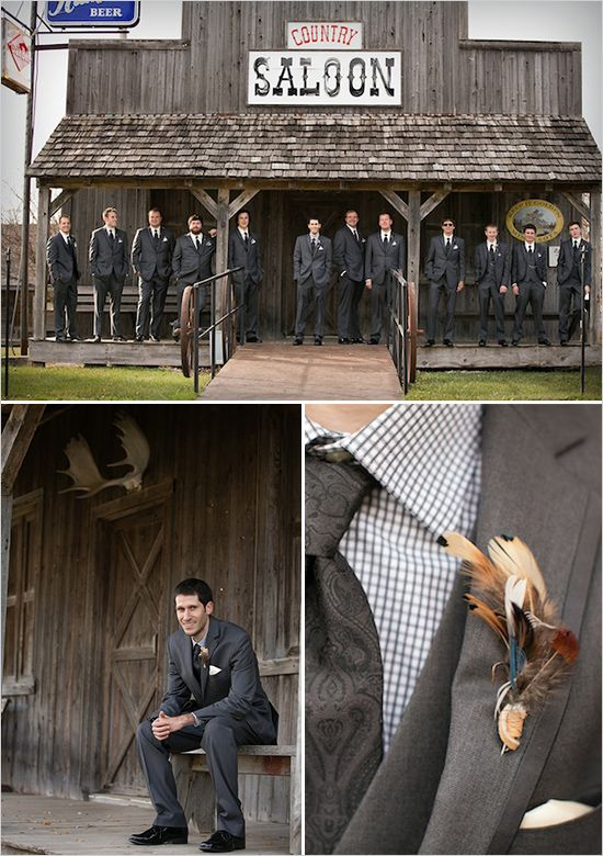 dark suits for the groom and his men