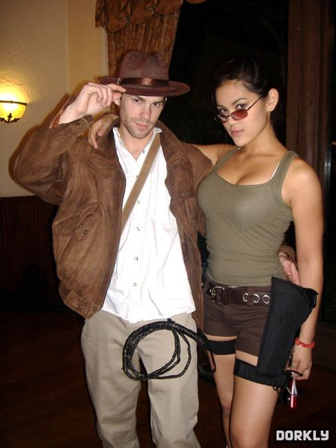 Indiana Jones and Lara Croft - Dorkly Picture (great,cos play,couple,adventure's ahead,go for it,well matched,lara croft,tomb raider,indiana jones,and the temple of doom,games,movies)