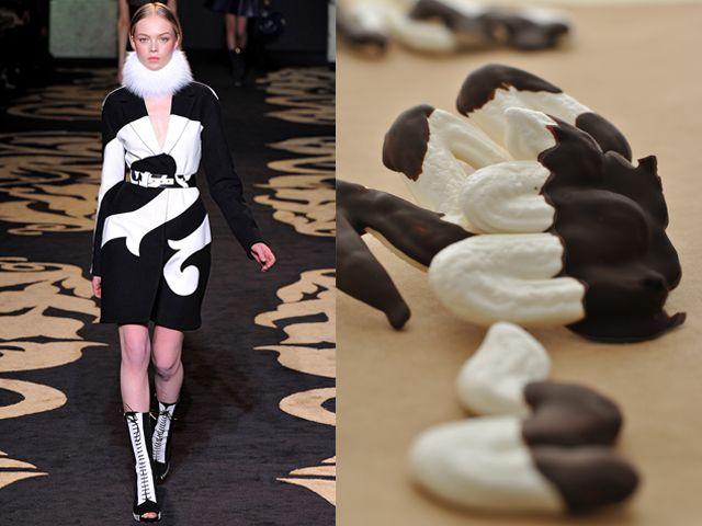 Versace fw 2011-12 / Chocolate dipped meringues