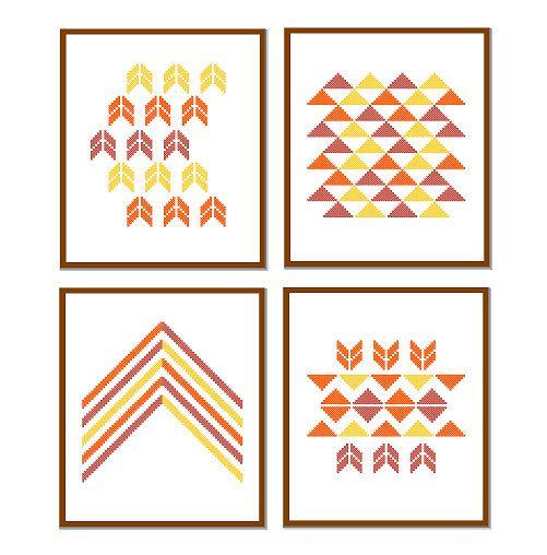 Croix géométrique modernes Cross Stitch Patterns par ZindagiDesigns