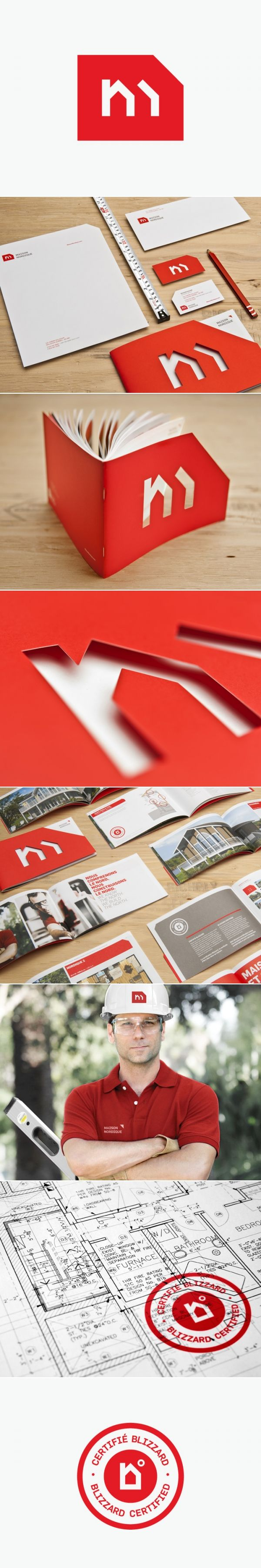 Maison Nordique - Corporate Branding identity | #stationary #corporate #design #corporatedesign #identity #branding #marketing repinned by www.BlickeDeeler.de | Visit our website: www.blickedeeler.de/leistungen/corporate-design