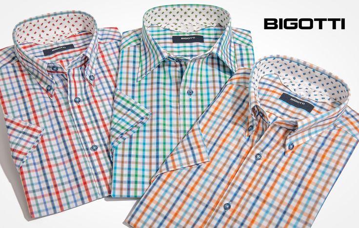 #Slim #cut, with #printed #details, the #short #sleeved #shirt is a #key #high #summer #piece www.bigotti.ro #Bigottiromania #moda #barbati #camasi #carouri #maneca #scurta  #vara #casual #smartcasual #mensfashion #mensclothing #menswear #followus #fashiontag