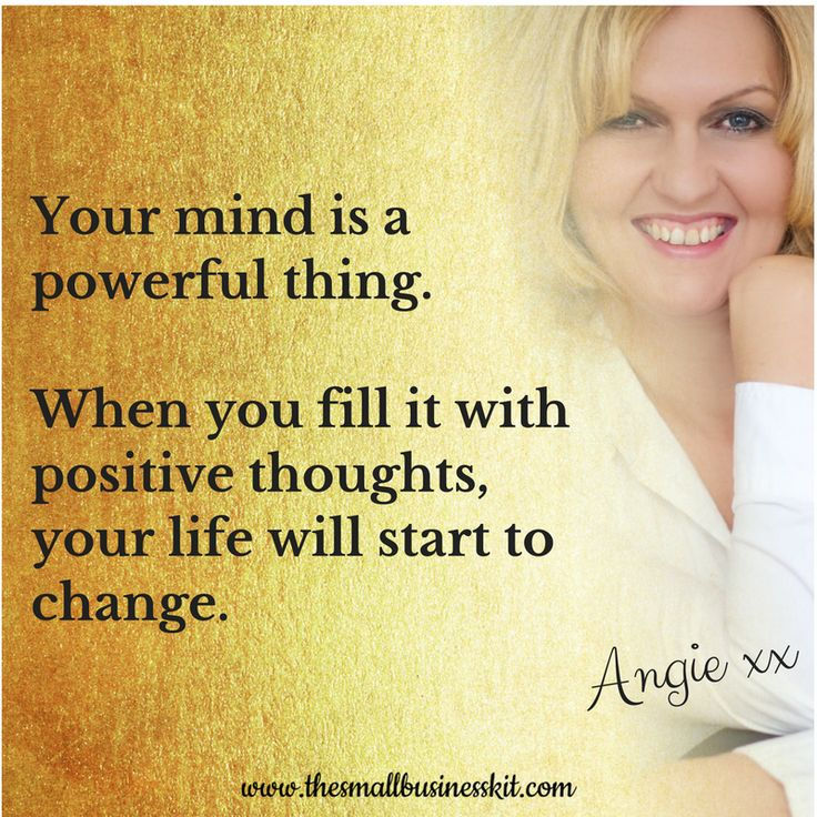 Your mind is a powerful thing!
