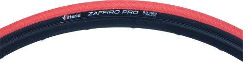 Vittoria Zaffiro Pro Tire: 700c 23mm Clincher Red Folding