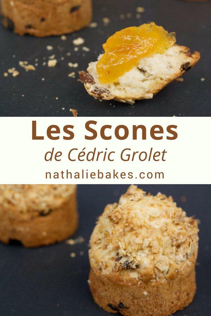 La recette de scones de Cédric Grolet que l'on peut déguster au tea time du Meurice. Moelleux et croustillants grâce à l'ajout d'un crumble, ces scones agrémentés de clotted cream et de confiture feront le parfait goûter! #scones #clottedcream #cedricgrolet #nathaliebakes | nathaliebakes.com