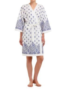 Tile border woven gown