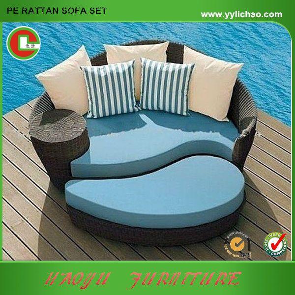 Patio rattan furniture Alibaba express yin yang furniture daybed