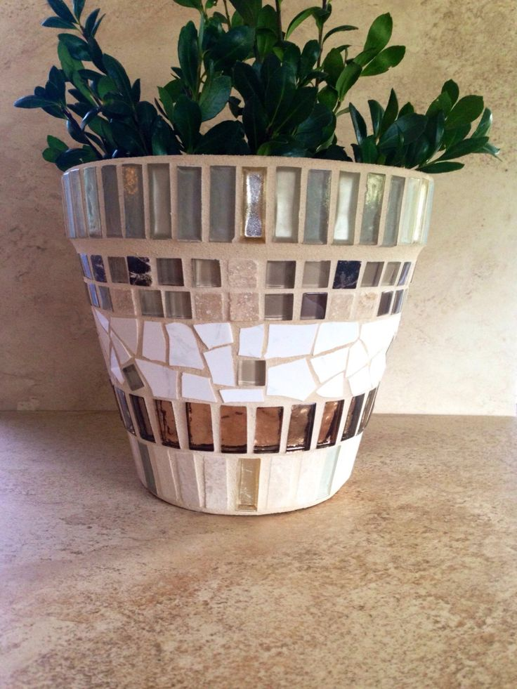A personal favorite from my Etsy shop https://www.etsy.com/listing/485060075/mosaic-planter-large-outdoor-planter