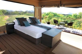 Safari Style Tent -  The exceptional accommodation at our eco resort includes 25 superbly appointed Eco Villas interlinked by over 1km of elevated wooden boardwalks, and 30 luxurious safari style Eco Tents.