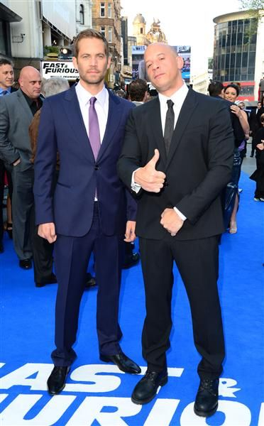 "Paul Walker and Vin Diesel at the World Premiere of ""Fast & Furious 6"" in London on May 7, 2013."