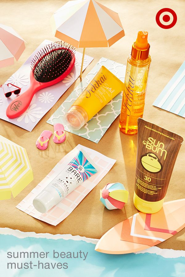 These 5 must-haves beat summer heat from head to toe. Fekkai Soleil hair mist is like sunscreen for your hair—spray it on before going out, then use the Fekkai Soleil hair cream for after-sun recovery. For easy detangling after swimming or showering, try using The Wet Brush. For your skin, Sun Bum SPF 30 offers premium protection without harmful chemicals. And Bare Republic tinted face sunscreen offers an all-natural look with lightweight coverage.
