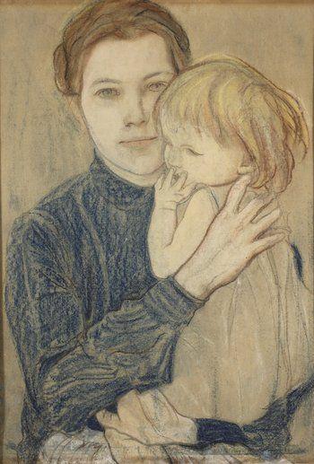 Portret Salomei Hankiewiczowej z córką Oleńką.