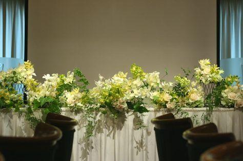 蘭 ウラク青山様の装花 : 一会 ウエディングの花