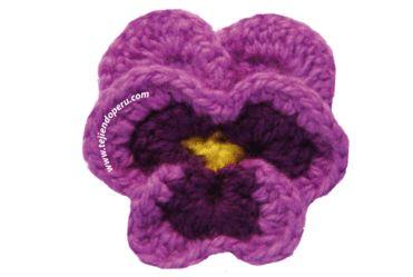Pansy pattern - Spanish Hooked on Crochet! Pinterest