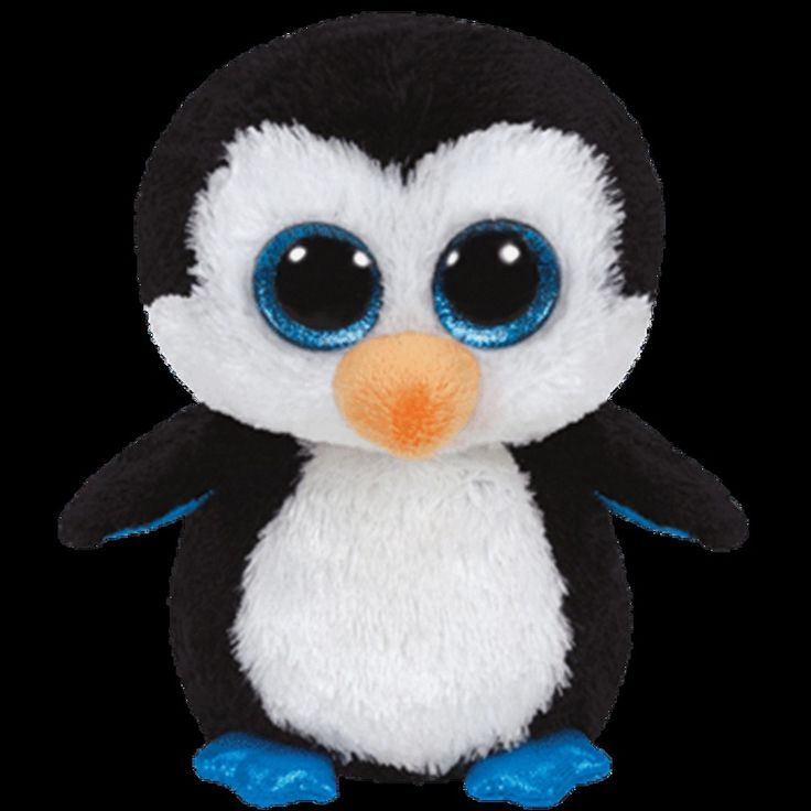 Ty Beanie Boo s Regular - Waddles the Penguin Plush Soft Toy Aust Stock NWMT