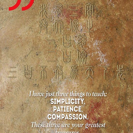 The 3 Greatest Treasures (Laozi's Quote)