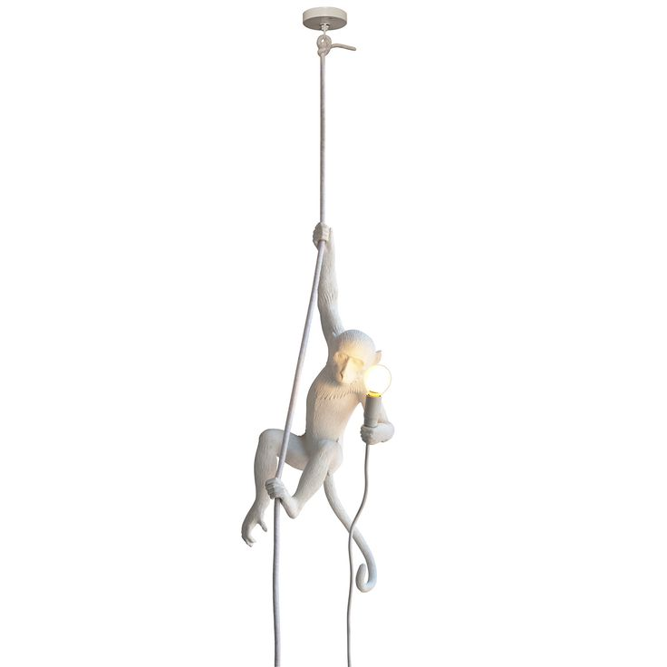 Unieke lamp met deze hangende aap! Monkey lamp ceiling van Seletti