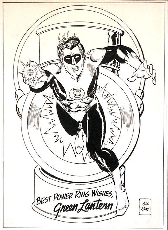 Original Art by Gil Kane for Pin Up from Green Lantern No. 46, July 1966 Comic Art