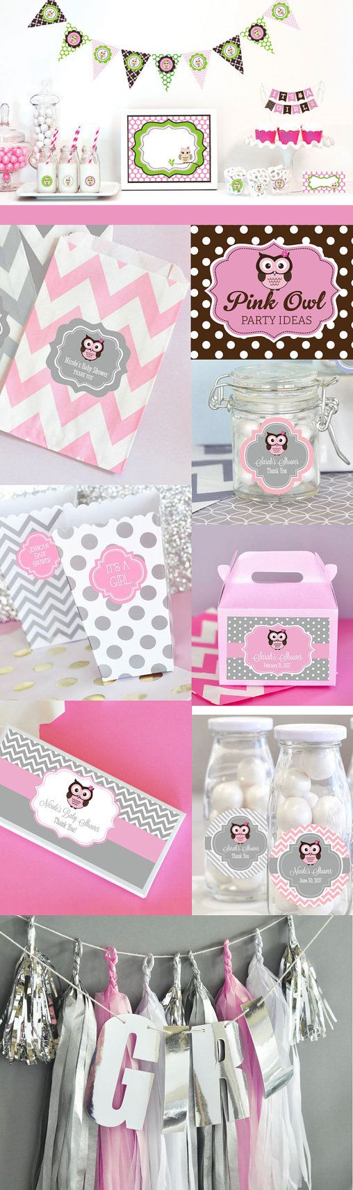 Baby Shower Themes Packages ~ Owl baby shower decorations and birthday party package