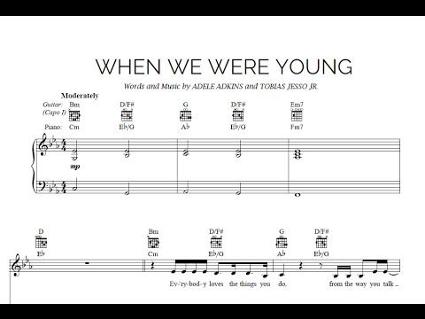 When We Were Young - Adele [Sheet & Midi Download] #sheetmusic #midi #download #adele #whenwewereyoung Download link:  http://goo.gl/sTW2QT