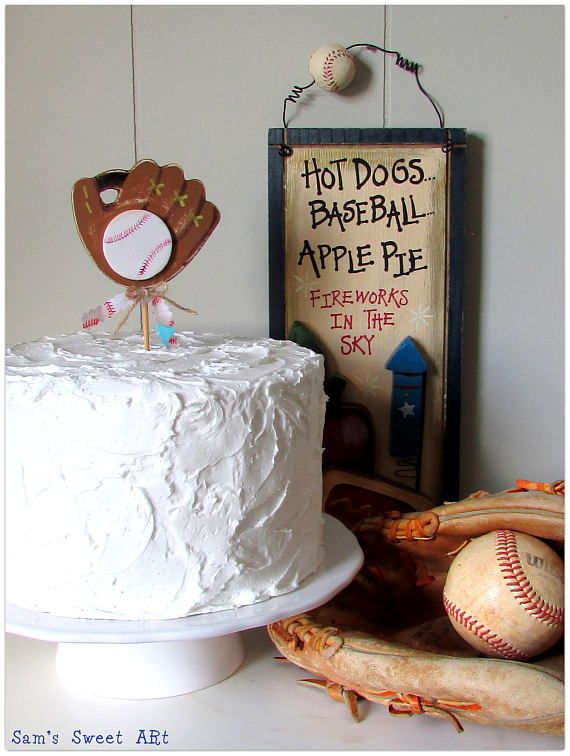 Check out this item in my Etsy shop https://www.etsy.com/listing/540082235/baseball-topper-ball-game-cake-topper
