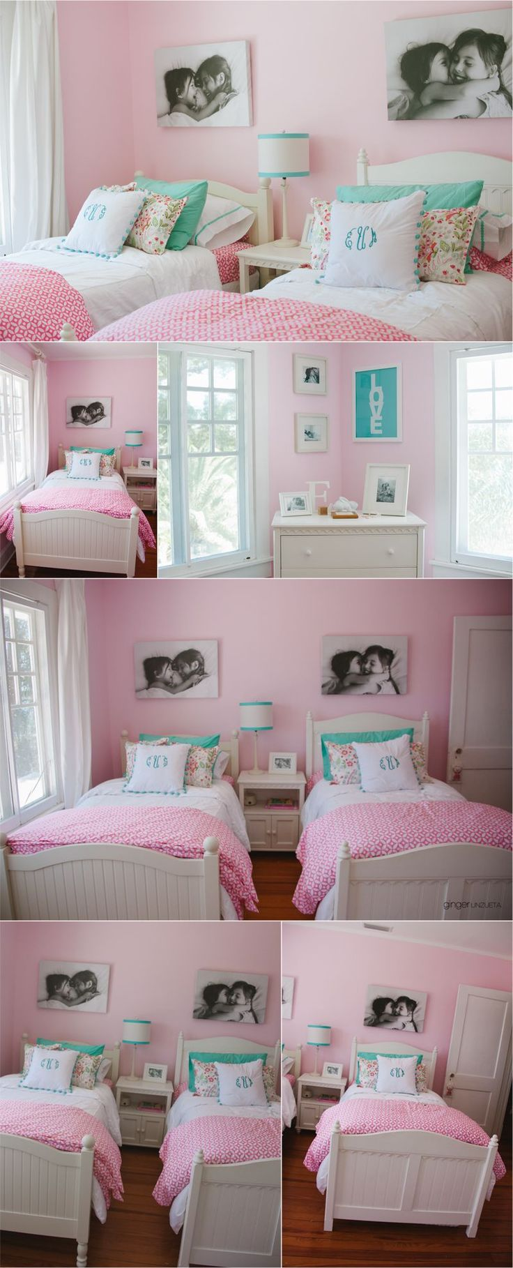 Except I would use turquoise for the walls - thats too much pink for me!