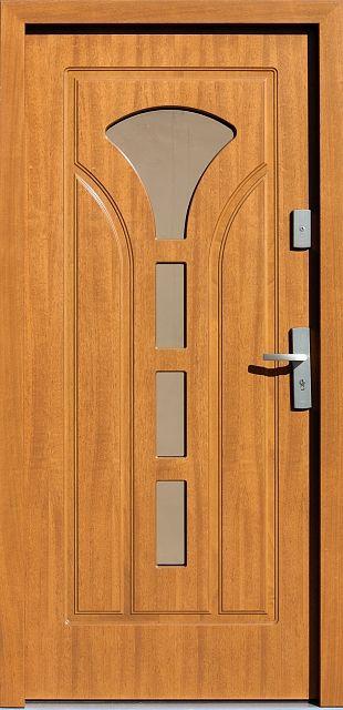 Drewniane wejściowe drzwi zewnętrzne do domu z katalogu modeli klasycznych wzór 508s4