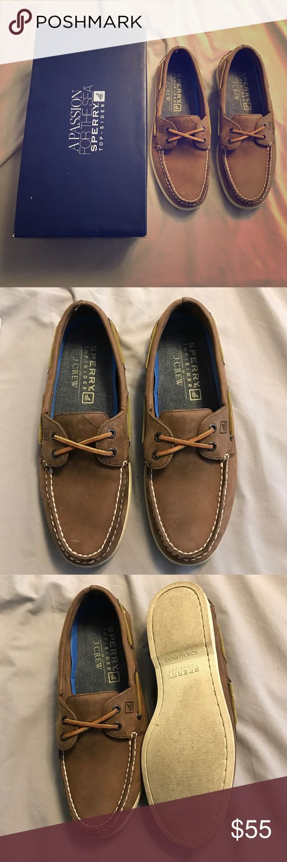 Men's Sperry Topsider for J.Crew Boat Shoes Worn only once. Sperry Topsider for J.Crew Men's size 9.5 in excellent condition. Sperry Top-Sider Shoes Boat Shoes