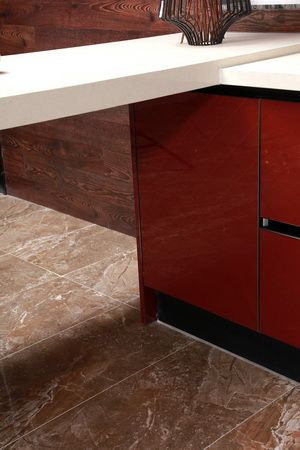 red base cabinet