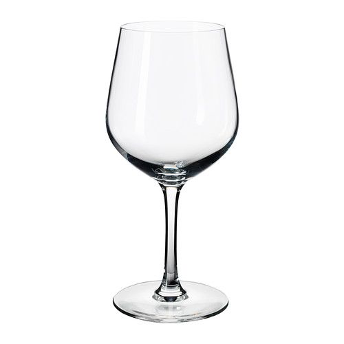 IKEA - IVRIG, Red wine glass, The glass has a large round bowl which helps the wine's aromas and flavors to develop better, enhancing your experience of the drink.