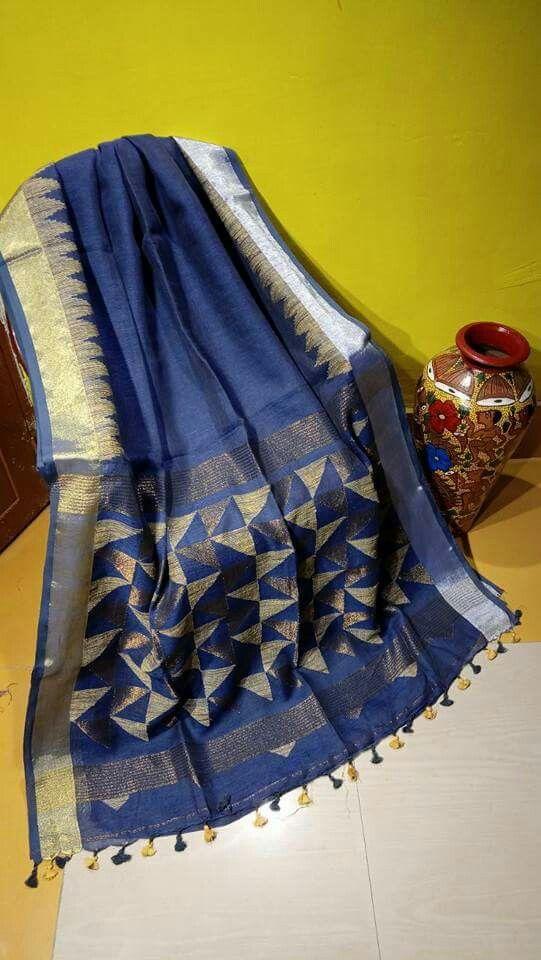 Linen by Linen temple jamdani Order what's app 7995736811