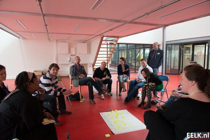 Durftevragensessie tijdens de eerste waarmaakdag in Leiden in 2012 met onze helden Nils Roemen, Katja Linders en Jules Martin!