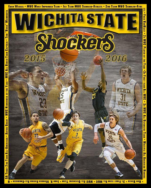 2015-2016 Shocker Senior Basketball Team #Shootangry #Dock410 #WSU #Basketball #Shockers #posters