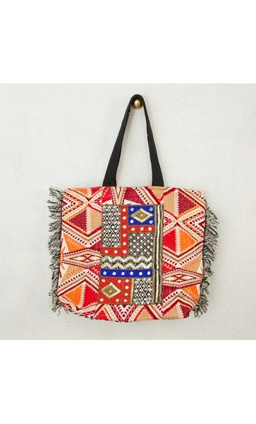 Patch and Mirror Market Tote