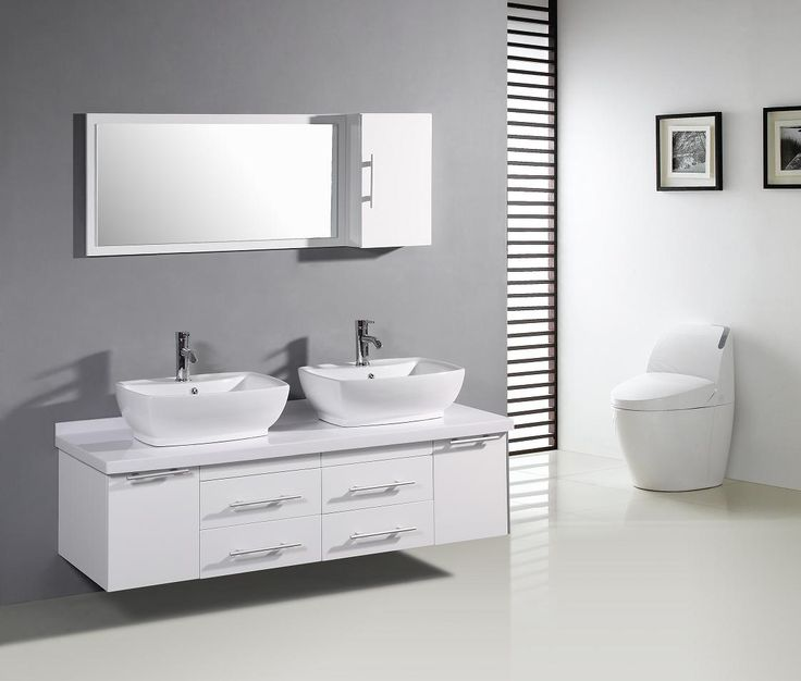 Wonderful Simple And Modern Bathroom Cabinets U2013 Piquadro 2 By BMT : Simple  And Modern Bathroom Cabinets Piquadro 2 By BMT With Gray White Wall And  Washbasin ...