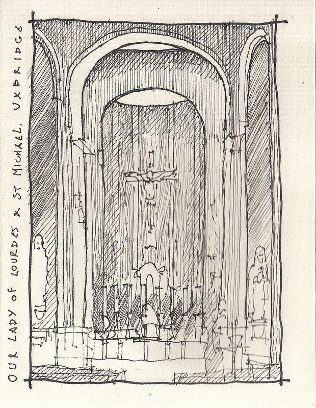 Our Lady of Lourdes, Uxbridge 29-10-16 | by timillustrator