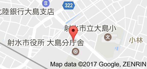 かき小屋 大島の地図