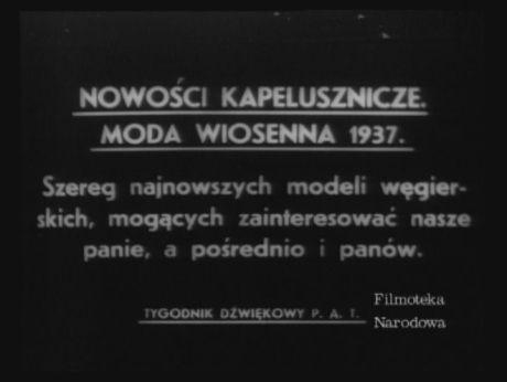 The hats in vogue in 1937 Nowości kapelusznicze. Moda wiosenna 1937. [video] (REPOZYTORIUM CYFROWE FILMOTEKI NARODOWEJ) #repozytoriumcyfrowe, #hat, #invogue, #vintage, #retro, #vintagefashion
