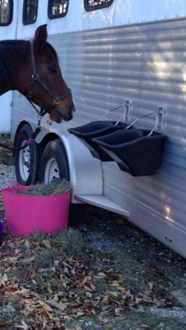 """Here a great photo depicting the bucket hangers and the """"better buckets"""" along with the tubtrugs in use at ridecamp."""