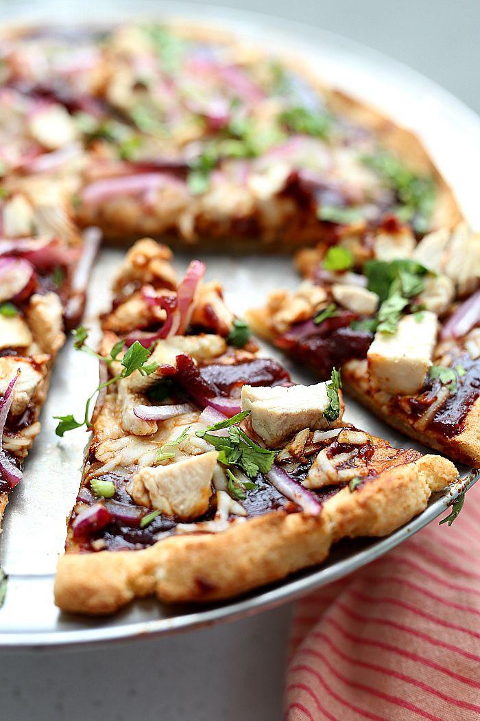 Cauliflower Crust Bbq Chicken Pizza Recipe Food Food Recipes