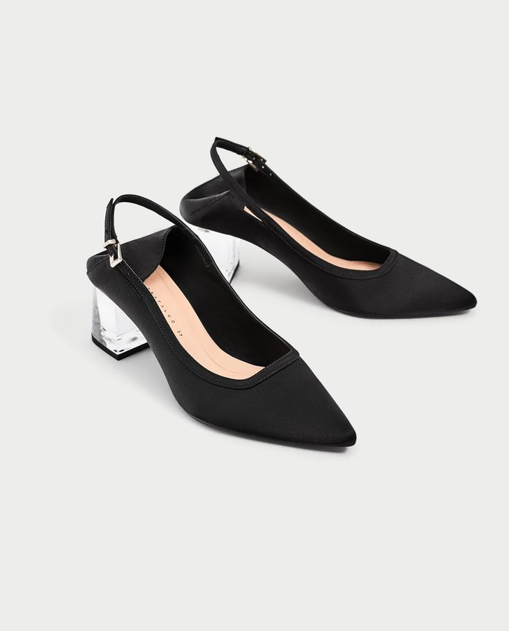 HIGH HEEL SLINGBACK SHOES WITH METHACRYLATE HEEL-View all-SHOES-WOMAN | ZARA United States