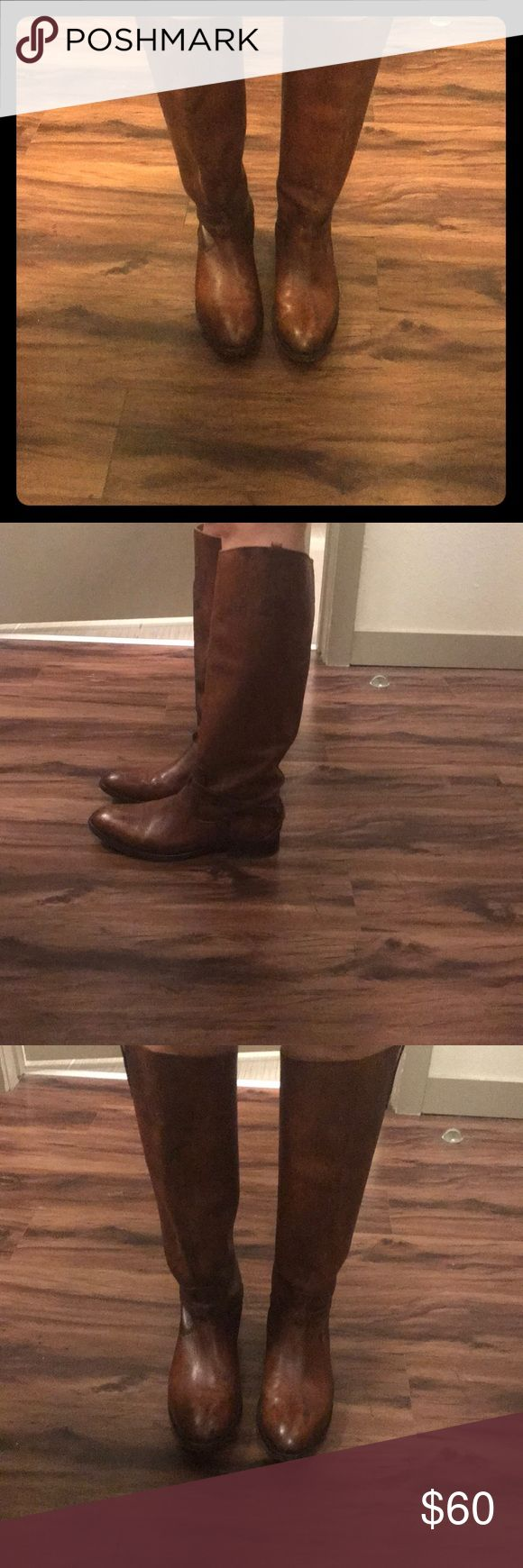 Frye Riding Boots Brown Frye riding boots in great condition! Frye Shoes Winter & Rain Boots