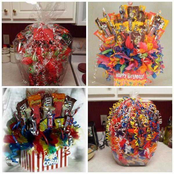 The best candy bouquet ideas on pinterest