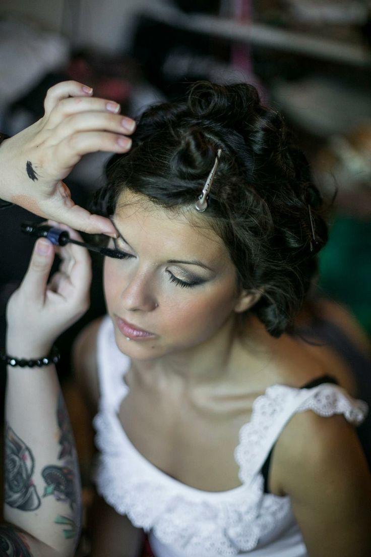 My make-up on Andi Photo by Viktória Győrfi